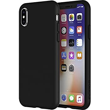 new product 0c9f8 53258 Incipio Siliskin iPhone X Case with Soft Silicone Shell and Micro-Texture  Bumper for iPhone X - Black