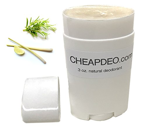 CHEAP Natural Deodorant - Premium All Natural ingredients, Swedish Shea Butter, NO Aluminum, NO Paraben, NO Propylene Glycol, with Arrowroot Powder, Coconut Oil, and it's CHEAP! (Lemongrass Rosemary)