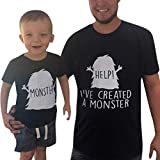 ✔ Hypothesis_X ☎ Mother Father Kids Family Matching Short Sleeve Letter T-Shirt 69 Casual Matching Family Clothes Tops Black