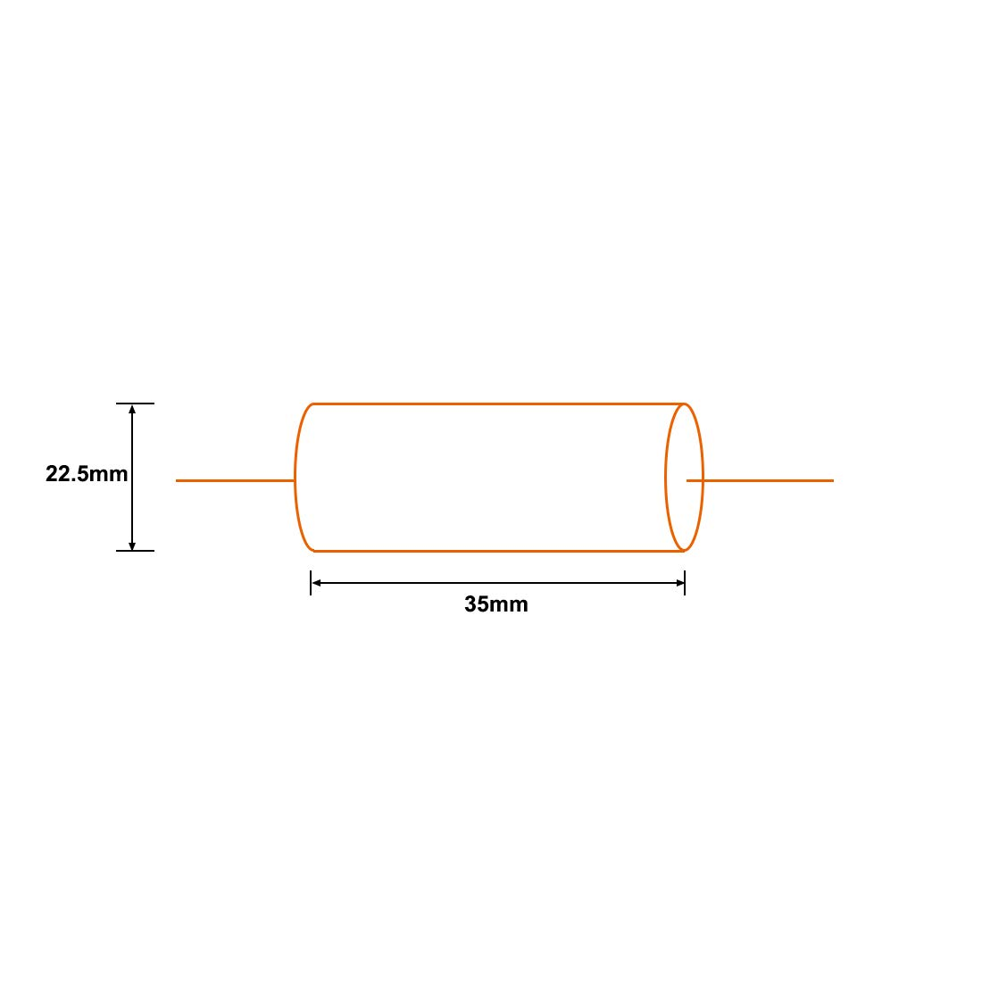 uxcell Film Capacitor 100V DC 4.7uF Round Axial Polyester Film Capacitor for Audio Divider Yellow