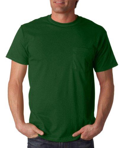 Fruit of the Loom Men's Heavy Cotton HD T-Shirt with (Fruit Of The Loom Chest Pocket T-shirt)