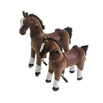 Toy Ride-on Reitpferd Stabil, Langlebig, Hohe Qualität und schönes Design (Black Medium)