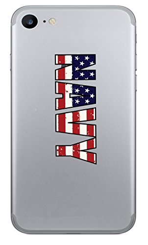WickedGoodz Set of 2 American Flag Navy Vinyl Decal - Cell Phone Sticker l- Perfect Soldier Military Gift