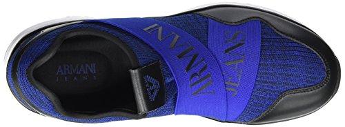 Homme Baskets Blu Emporio Low 00439 Armani Cut Melange Sneaker Bleu Noir wPPaOUqTx
