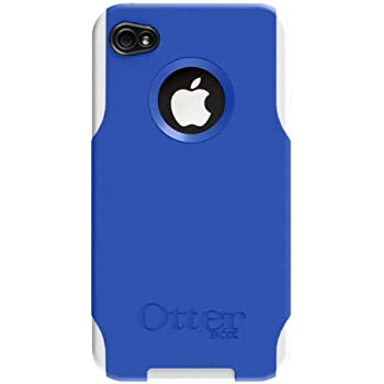 OtterBox Commuter Hybrid Case for AT&T and Verizon iPhone 4 (Zircon Blue/White) (Doesn't support iPhone 4S)