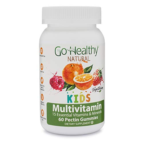 Allergy Multivitamin - Go Healthy Natural Multivitamin Gummies for Kids, Vegetarian, OU Kosher, Halal (60 ct) 30 Serving