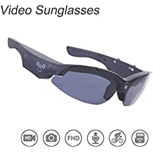 OHO 16MP Video Sunglasses, 16GB Ultra HD Outdoor Sports Action Camera with Built in 16MP Camera and Polarized UV400 Protection Safety and Interchangeable Lens