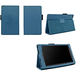 Case for All-New Fire 7 2017 - Premium Folio Case for All-New Fire 7 Tablet with Alexa 7th Generation - (Dark Blue)