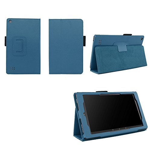 7 Folio Tablet (Case for All-New Fire 7 2017 - Premium Folio Case for All-New Fire 7 Tablet with Alexa 7th Generation - (Dark Blue))