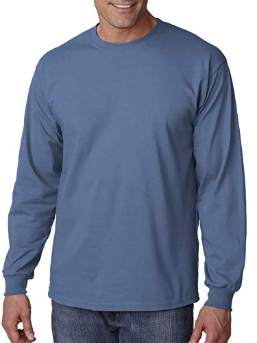 Gildan Ultra Cotton 6 oz. Long-Sleeve T-Shirt, 5XL, INDIGO ()
