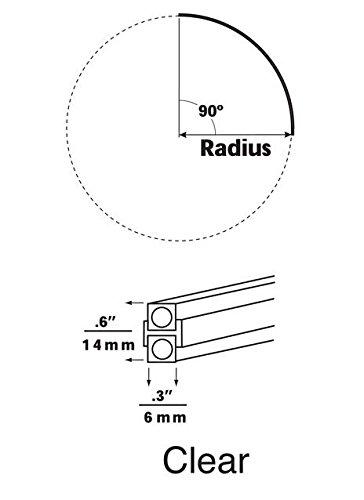(Pre-Bent 90° Curve Monorail Size / Finish / Color: 48