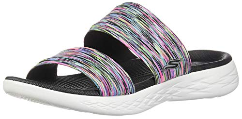 (Skechers On The GO 600 Bedazzling Womens Slides Sandals Multi 10 W)