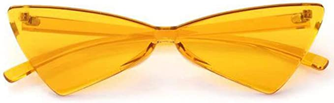 Triangle Rimless Sunglasses for men or women. Many colors.