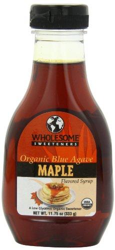 Les édulcorants sains organique Agave bleu, à saveur d'érable, bouteilles 11,75 onces (pack de 6)