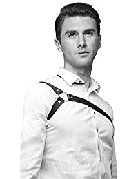 AoMoon Men's Black Leather Chest Body Harness Belt Adjustable Buckle Straps