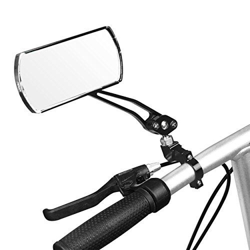 IZTOSS 1 pair Aluminum Bike Mirror Mountain Bicycle Rearview Handlebar End Rear View-Black