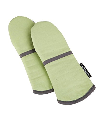 Cuisinart Oven Mitt with Non-Slip Silicone Grip, Heat Resistant to 500° F, Sage Green, 2-Pack