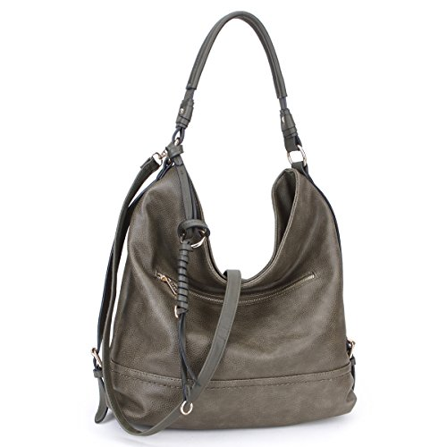 (DASEIN Women Handbags Top-Handle Fashion Hobo Tote Bags PU Leather Shoulder Satchel Bags)
