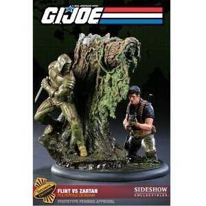 Gi Diorama Joe (Flint vs Zartan GI Joe Sideshow Collectibles Exclusive Polystone Diorama)