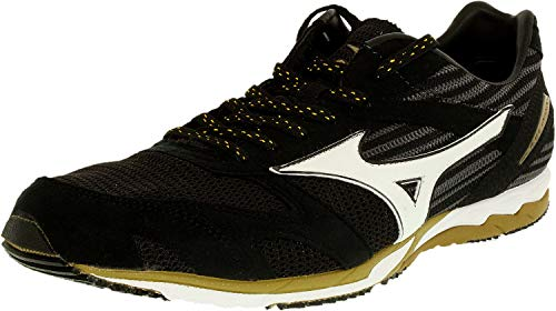 Mizuno Wave Ekiden Running Shoe,Black,11 D US (Best Mizuno Running Shoes For Flat Feet)