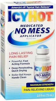 Icy Hot Ointment - Icy Hot Medicated No Mess Applicator Max-Strength 2.5 Ounce (73ml) (2 Pack)
