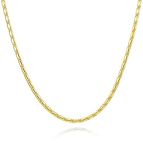 MMTTAO Rope Link-Chain Snake 18K Gold Plated Curb Figaro Chain Necklaces for Men Women Necklace 18