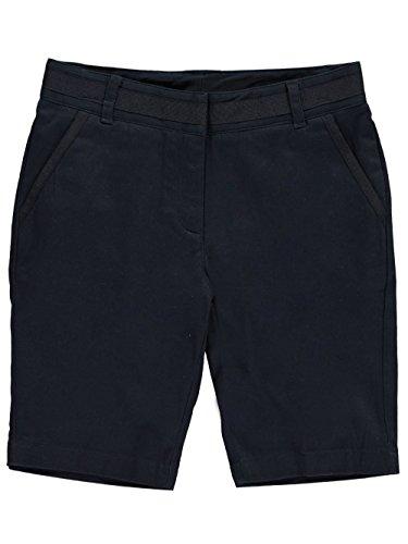 Nautica Girls' Big School Uniform Skinny Twill Bermuda Short, Navy, 14