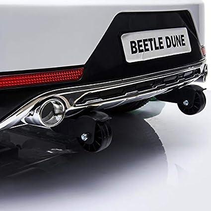 Rosa BC BABY COCHES Coche el/éctrico para ni/ños Mando para Padres Volkswagen Beetle Dune Coche con Bater/ía 12v Ruedas EVA Asiento Polipiel