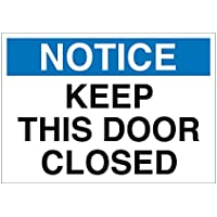 Imprint 360 AS-10020A Aluminum Workplace Notice Keep this Door Closed Sign - 7 x 10, White / Blue / Black, PROUDLY Made in the USA, Printed with UV Ink for Durability and Fade Resistance
