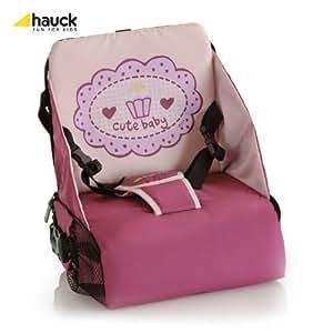 Hauck 657027 Grow n Go - Elevador para asiento con bolsa de transporte (30 x 25 x 10 cm), color rosa