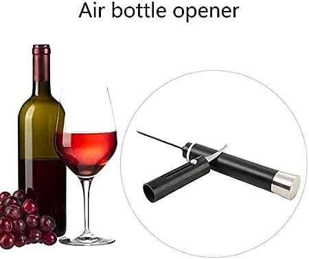 Zhou-YuXiang Sacacorchos neumático de aleación de Aluminio, abridor de Vino de Gas, sacacorchos Manual, abridor de Botellas Manual