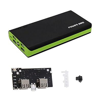 Banco de Energía Caso Kit 18650 Batería Cargador para Teléfono Celular Móvil - Verde