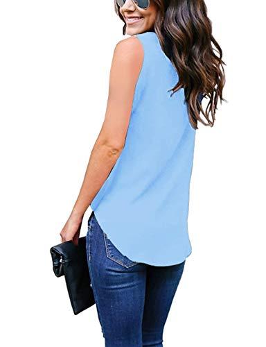 Floreale Lunga Manica Strappy Autunno V Fashion Camicetta Tops Blau Donna Primaverile Shirts Pizzo Elegante Grazioso Asimmetrica Blusa 1 Monocromo Hipster Neck Casuali Vintage Stlie qaPTEZPxw
