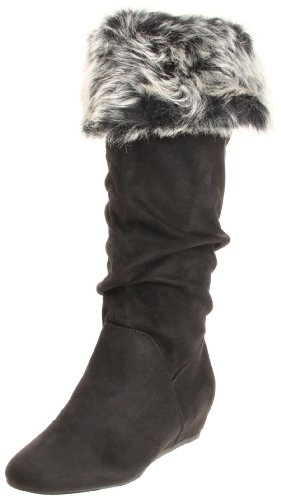 Report Enfield Womens Size 8 Black Fabric Fashion Knee-High
