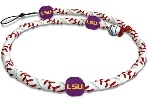 - NCAA Louisiana State Fightin Tigers Classic Frozen Rope Baseball Necklace