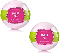 Bath and Body Works Sweet Pea Signature Collection Bath Fizzy 2 Pack 4.6 Oz / 130 g