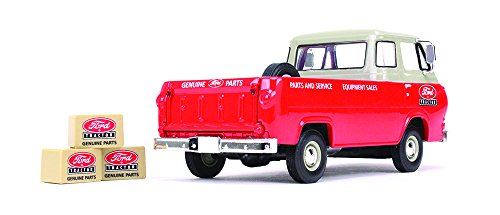 First Gear 1/25 scale Diecast Collectible Ford Tractor Parts & Service 1960s Ford Econoline Pickup with Three Boxes (Ford Econoline Pickup)