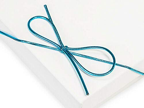 """Tkdream 100 Metallic Stretch Loop 1/16"""" Round Elastic Cord w/Bow 6 inch & Metalic Turquoise Color from Tkdream"""
