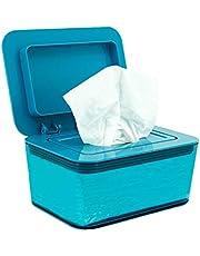 Loghot Plastic PS Baby Diaper Wipes Dispenser Reusable Wet Wipes Storage Holder Case Travel Tissue Box (Blue)