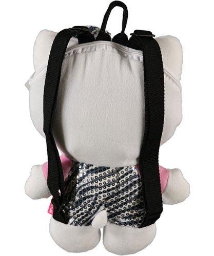 Hello Kitty Zebra Sequin Plush Backpack