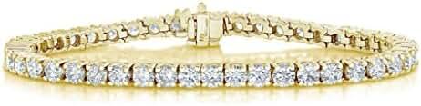 3 CT VS1-VS2 IGI Certified Diamond Bracelet 14K Yellow Gold G-H Color