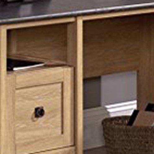 Sauder August Hill L Shaped Desk Dover Oak Finish