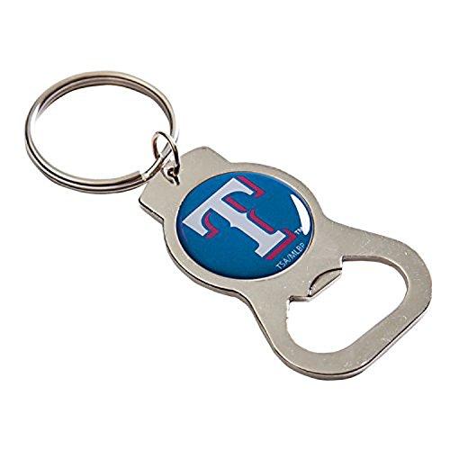 - MLB Texas Rangers Bottle Opener Key Chain, One Size, Silver