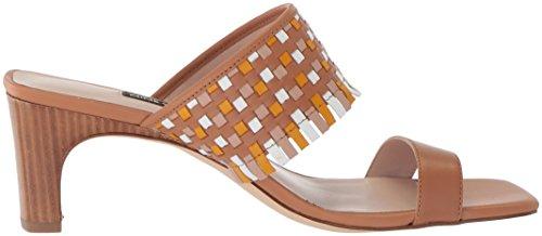 Sandalo Da Slitta Nove West Donna In Nirveli In Pelle Color Cuoio Scuro
