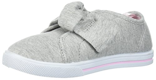carter's Girls' Alethia Bow Slip-On Sneaker, Grey, 5 M US Toddler