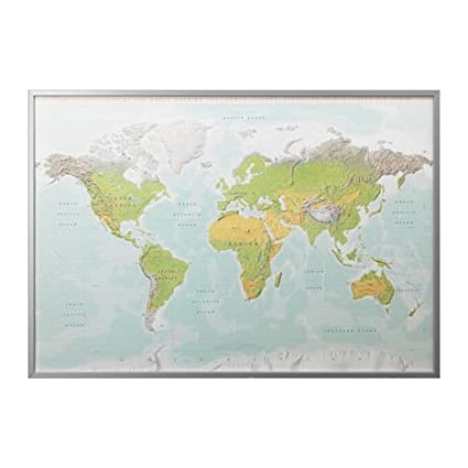 Ikea Bjorksta Picture with Aluminum Color Frame Planet Earth ...