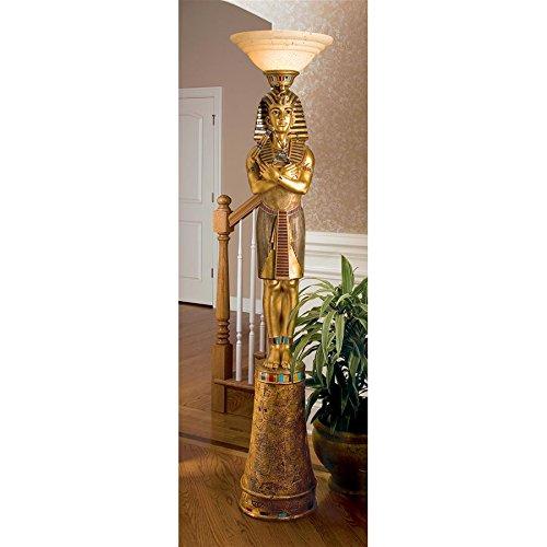 (Design Toscano King Tut Sculptural Floor Lamp)