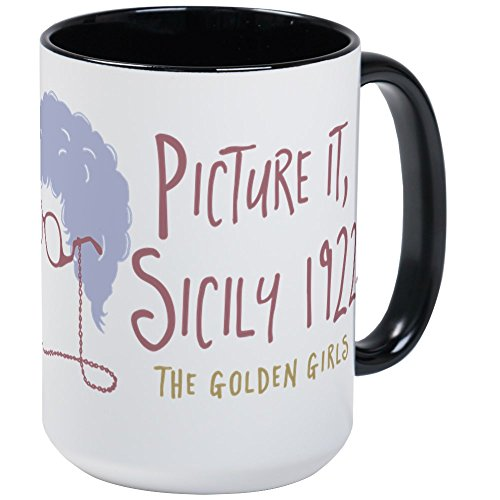 CafePress Golden Girls Picture It Mugs Coffee Mug, Large 15 oz. White Coffee Cup