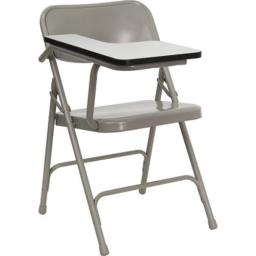 Premium Steel Folding Chair with Right Handed Tablet Arm HF-