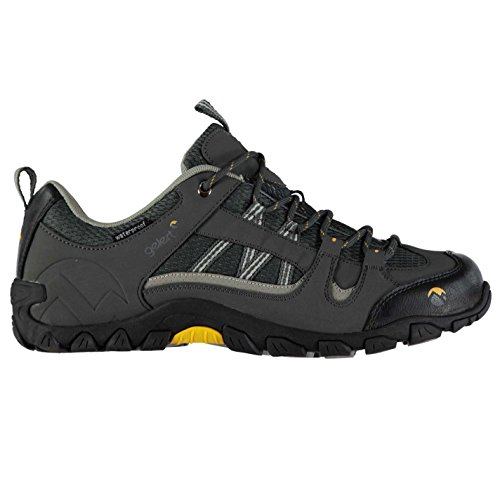 Gelert Mens Rocky Walking Shoes Waterproof Lace Up Padded Ankle Collar Tongue Charcoal KlHj9ul7